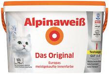 Alpinaweiß Das Original Innenfarbe Wandfarbe Alpinaweiß matt 10 L Weiss TOP