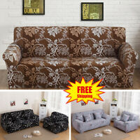 123 Seater Stretch Loveseat Sofa Couch Protect Cover Slipcover Washable Elastic