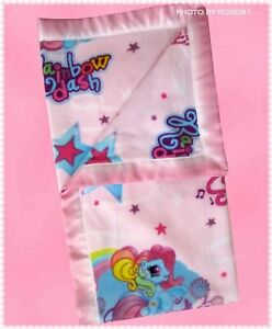 """My Little Pony BLANKET 54"""" x 58"""" RAINBOW DASH & STAR SONG Pictures Custom Ma"""