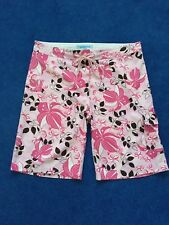 Billabong ladies BRAND NEW surf shorts size large Pink Hibiscus flower pattern