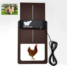 Automatic Door with Light Sensor, Lock, Electric Chicken Coop House Protection