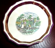 Vtg Gray's Pottery The Old Mill Hand Painted Bowl Made In Stoke-on-Trent England