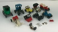 Vintage CLE Plastic Old Time Cars Made in France Set of 8 Citco Diecast Defects