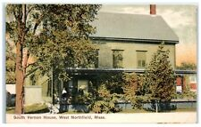 Early 1900s South Vernon House, West Northfield, Ma Postcard