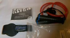 BODYLASTICS  CLIP AND HANDLE BANDS- 8 Pounds  Red W/ INSTRUCTION BOOK