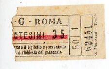 BIGLIETTO TRAMVIA  ELETTRICA  ATAG  ROMA  CM   35   FESTIVO