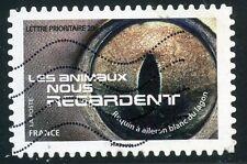 TIMBRE FRANCE AUTOADHESIF OBLITERE N° 1152 / LES ANIMAUX NOUS REGARDE