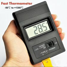 TM902C Digital LCD K Type Thermometer Temperature Meter + Thermocouple Probe