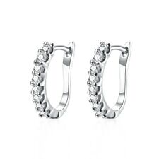 Lover Hoops Earrings for Women's Ear Studs 18K White Gold Filled Jewelry 16mm