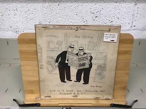C. 1940 Dave Berger Original Pen & Ink Signed Comic Earthquake Sports Scarce