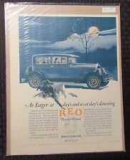 "1927 REO Flying Cloud Brougham 10.5x13.5"" Automobile Color Print Ad FN+ 6.5"