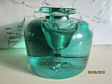 More details for early 1840/50 antique end of day bottle glass dump inkwell/paperweight.