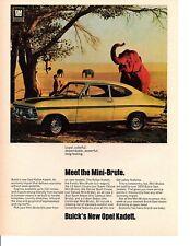 1968 BUICK OPEL RALLYE KADETT / MINI-BRUTE  ~  GREAT ORIGINAL PRINT AD