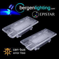 FOR BMW 5 SERIES E39 E60 1995-15 24 BLUE LED BOOT FOOTWELL GLOVE BOX LIGHT LAMPS