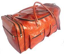 5814db8df332b Echte Leder Tasche Vintage Sporttasche 55x30 Gym Reisetasche Weekender  Karamel