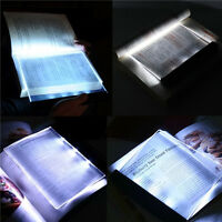 Night Vision LED Light Book Straightforward Page Reading Lamp Read Panel Travel*