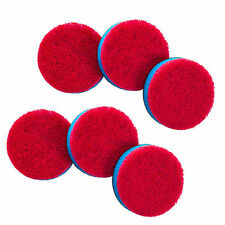 Quickie Scourer Pad Refills for Household Power Scrubber sponge (Set of 6) 084