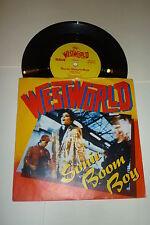 """WESTWORLD - Sonic Boom Boy - 1987 UK vinyl 7"""" Vinyl single"""