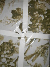 WILLIAMS SONOMA GRAPE BIRDS TOILE PLACE MATS THANKSGIVING OLIVE GREEN SET OF 4