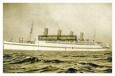 rp12968 - Cunard Liner Hospital Ship - Aquitania , built 1914 - photo 6x4