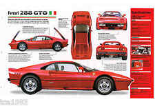 1984 / 1985 / 1986 / 1987 FERRARI 288 GTO SPEC SHEET / Brochure