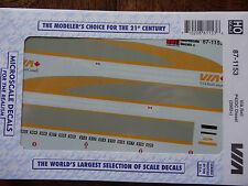 Microscale Decal HO  #87-1153  VIA Rail Canada P42 Diesels  Dates:2001+