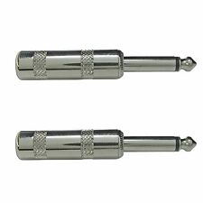 2 PACK LOT 1/4 mono tip sleeve pro audio plug connector for guitar speaker cable