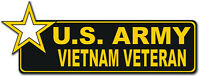 "U.S. Army Vietnam Veteran with Star 6"" Bumper Sticker Decal"