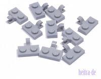LEGO - 10 x Platte hellgrau 1x2 mit Clip senkrecht an Querseite / 11476 NEUWARE