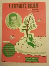 A Dreamer's Holiday Sheet Music Perry Como 2 pages Skidmore Music Co Kim Gannon