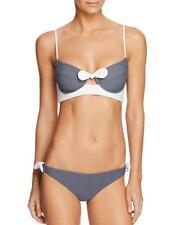 NWT NEW Tularosa Ivory Charcoal Asa Swimsuit Bikini Set Large $208 mtu01