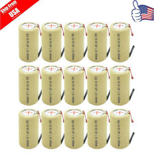 15pcs Sub C SubC W/ab NiCD 4000mAh 1.2V Rechargeable Battery For Power Tool USA
