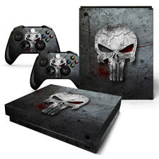 Video Games & Consoles Supply Punisher Xbox One S Sticker Console Decal Xbox One Controller Vinyl Skin Quality First Faceplates, Decals & Stickers