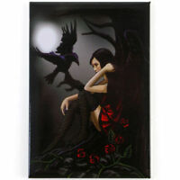 Quality Lisa Parker Fridge Magnet~Fantasy Art~Fairy & Raven~LP1~uk seller