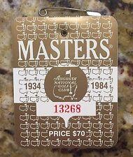 1984 MASTERS AUGUSTA NATIONAL GOLF CLUB BADGE TICKET BEN CRENSHAW WINS PGA