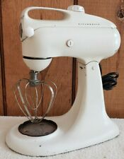 Vintage Hobart KitchenAid White Stand Mixer Model 3-C w/ Whisk *Tested*