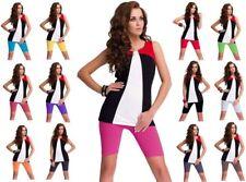 2 Stück DeDavide Damen Radlerhosen aus Baumwolle, 16 verschiedene Farben