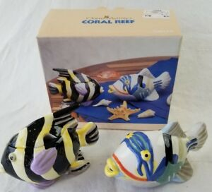 Claire Murray Coral Reef Sakura sugar & creamer earthenware set pair fish