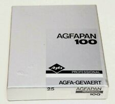 AGFAPAN 100 PROFESSIONAL 4X5 FILM--25 SHEETS--FACTORY SEALED
