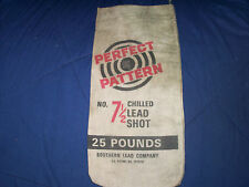 Perfect Pattern 7 1/2 Chilled Lead Shot Bag Vintage Southern Lead Company
