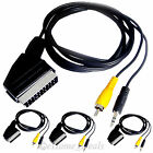 Scart RGB To 2 RCA Phono AV Audio Video PC Laptop TV Cable 1.5M 2M 3M 5M 10M 15M