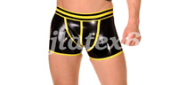 Latex Shorts Men Boxer Handsome Tight Underwear Swimming Trunk Size S-XXL