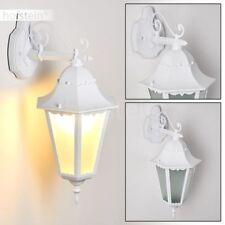 Außen Wand Beleuchtung Hof Terrasse Veranda Lampe weiß Garten Leuchten Milchglas
