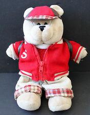 Starbucks Bearista Boy Bear Back To School Letterman's Jacket Stuffed Animal