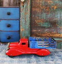 Antique Tin Toy Blue and Red Builders Truck