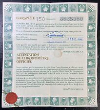 ROLEX certificato 16550 Explorer II PANNA CREMA AVORIO FONDELLO Adesivo 1986 OEM