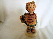Goebel Hummel Girl with Chocolate Heart and Basket 1972 Germany