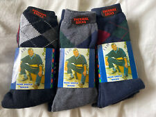 9 X Pairs Of Mens Argyle Thermal Socks Size 6-11