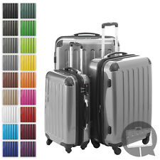 Alex Hauptstadtkoffer Set of 3 Hardside Luggages Trolley Suitcase Silver TSA Zahlenschloss