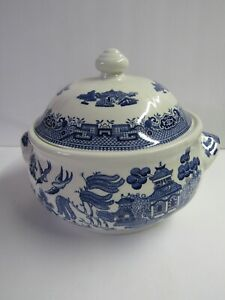 Churchhill Willow Blue and White Covered Tureen Made In England
